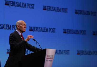 """אולמרט. """"ישראל צריכה לעבוד בשקט"""" (צילום: מרק ישראל סלם / ג'רוזלם פוסט)"""