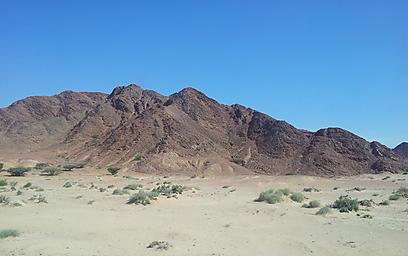 העתק זהה של הרי אילת. הרי אדום בוואדי פיידאן (צילום: זיו ריינשטיין) (צילום: זיו ריינשטיין)