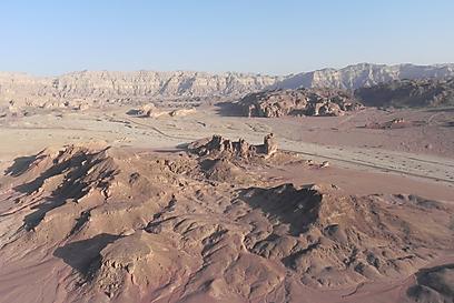 אתר כריית הנחושת התאום של פונון בירדן. פארק תמנע מהאוויר (צילום: זיו ריינשטיין) (צילום: זיו ריינשטיין)