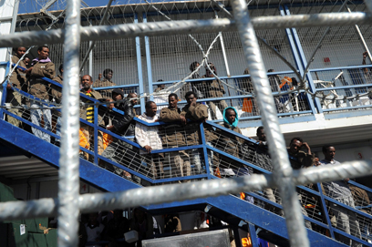"""""""עשרות יחזרו בקרוב לארצם"""". כלא סהרונים (ארכיון) (צילום: חיים הורנשטיין   ) (צילום: חיים הורנשטיין   )"""