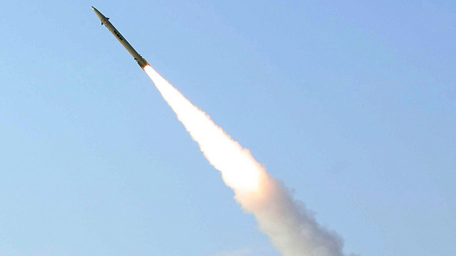 Iranian Fateh-110 surface-to-surface missile (Photo: AP)