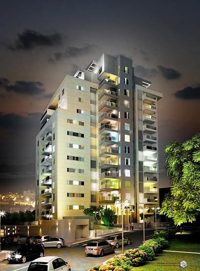 הדמיה של פרויקט דניה SPACE בחיפה  (צילום: קבוצת מזרחי)