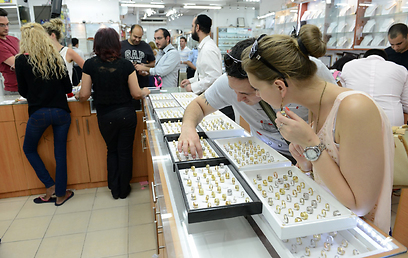 """ג'קסון. חנות תכשיטים שמוכרים בה בעיקר טבעות נישואין ואירוסין. מתחם הבורסה, ר""""ג (צילום: ירון ברנר) (צילום: ירון ברנר)"""