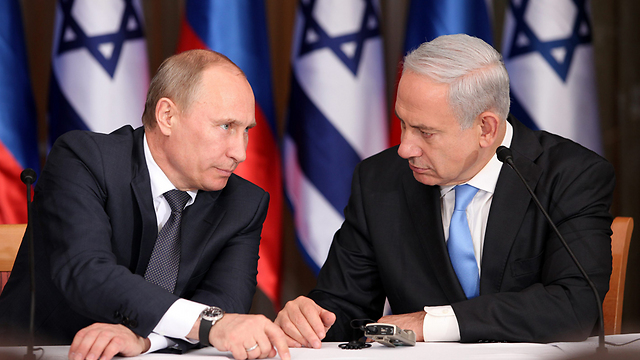 Russia's Putin with Prime Minister Netanyahu (Photo: Marc Israel Salem)
