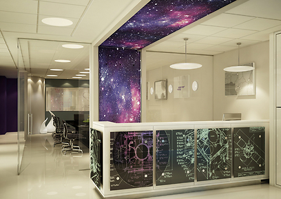 עיצוב משרד ממותג באמצעות הדלפק (צילום: סטודיו ליליקה) (צילום: סטודיו ליליקה)
