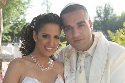 בני הזוג, גולן וסיון כהן ביום חתונתם