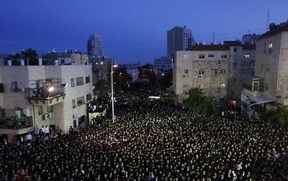 ההפגנה בירושלים, הערב (צילום: אוהד צויגנברג) (צילום: אוהד צויגנברג)