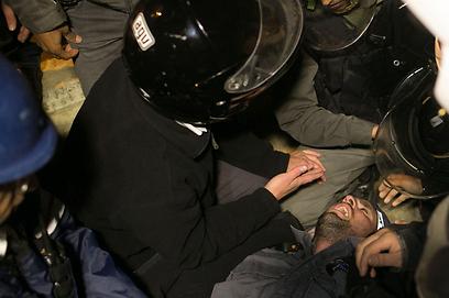 """""""לא יתגייסו בגלל התנהגות המשטרה"""". ההפגנה בירושלים, אמש (צילום: אוהד צויגנברג)"""