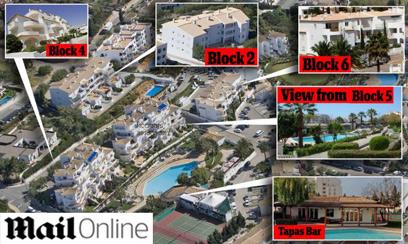 מפת אתר הנופש והמתחמים סביב הדירה ()