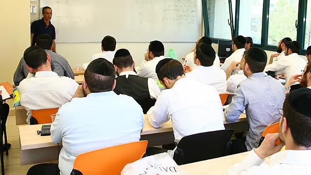 """""""אם לא תהיה הפרדה הם ידירו רגליהם"""" (צילום באדיבות: המכללה החרדית ירושלים)"""