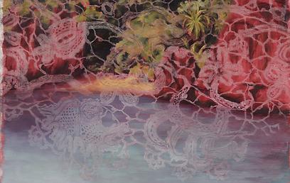 היער משתקף בעבודות שלה (צילום: ניר דבוראי) (צילום: ניר דבוראי)