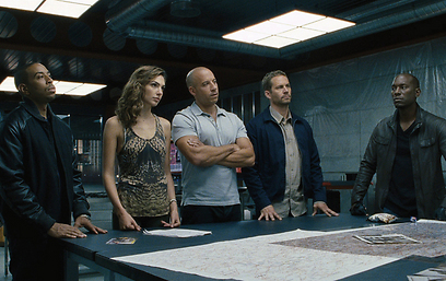 Paul Walker, Vin Diesel and Gal Gadot in 'Fast and Furious 6'