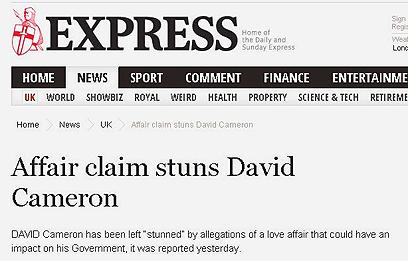 """ה""""אקספרס"""". דיוויד קמרון בהלם"""