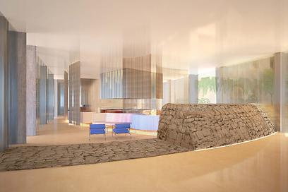 הדמיית לובי המלון. בחברה רוצים ליצור אפקט של WOW (צילום: Felix Montesquiou) (צילום: Felix Montesquiou)