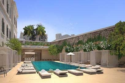 הדמיית בריכת השחייה. גם לדיירים בפרויקט המגורים תהיה גישה אליה (צילום: Felix Montesquiou) (צילום: Felix Montesquiou)