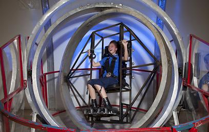 סימולטור בתערוכת החלל (באדיבות  U.S. Space & Rocket Center)