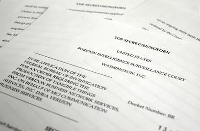 עותק של פקודת השופט להעביר רישומי השיחות ל-NSA (צילום: AP)