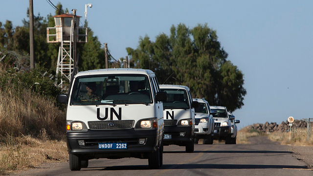 UN force patrols Israel-Syria buffer zone (Photo: AP)