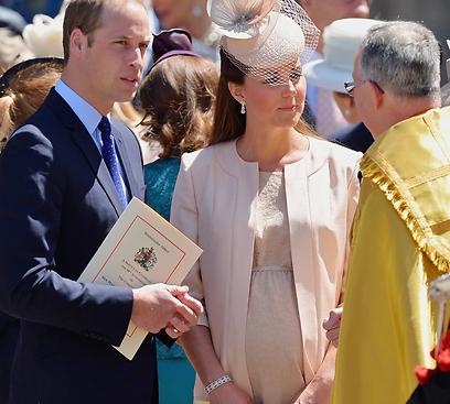 הבטיח וקיים. ויליאם נכח בלידה (צילום: AFP) (צילום: AFP)