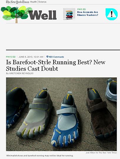 מתברר שהן לא הכי טובות לריצה - נעליים מינימליסטיות ()
