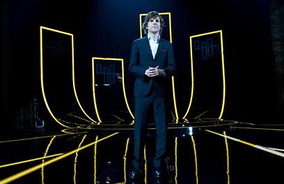 ג'סי אייזנברג על הבמה (צילום: מתוך הסרט) (צילום: מתוך הסרט)