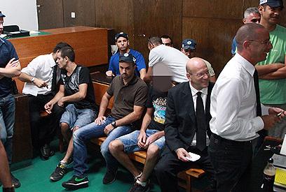 הארכת המעצר של החשודים, אתמול בבית המשפט (צילום: מוטי קמחי) (צילום: מוטי קמחי)