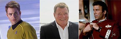 קפטן קירק ב-1982 והיום. משמאל: כריס פיין כקירק החדש ()