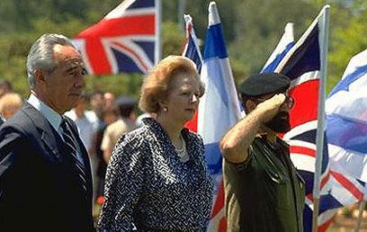 """ראש ממשלת בריטניה, מרגרט תאצ'ר, בביקור בישראל ב-86' (צילום: סער יעקב, לע""""מ) (צילום: סער יעקב, לע"""