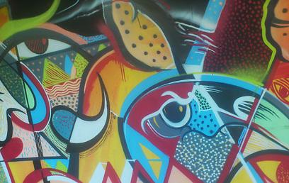 """אלף מ""""ר של אמנות רחוב. הקומה השביעית בתחנה המרכזית (צילום: יפעת מור) (צילום: יפעת מור)"""