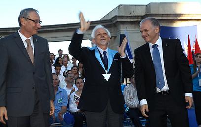 """""""אני מרגיש יהודי בלב ובנפש"""". פרופ' פראני בטקס קבלת תואר ד""""ר לשם כבוד (צילום: ששון תירן ) (צילום: ששון תירן )"""