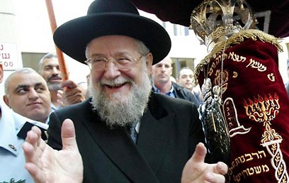 הרב ישראל מאיר לאו. גם הוא יגיע ללילה הלבן (צילום: מיכאל קרמר)