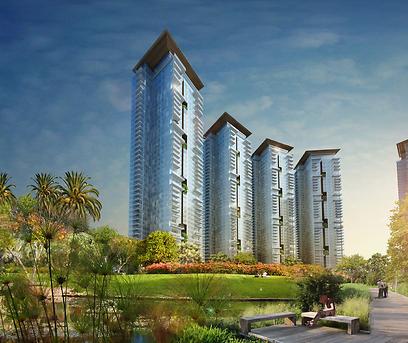 הדמיית הפרויקט. 5.5 מיליון שקל - והדירה בקומה ה-15 שלכם ()
