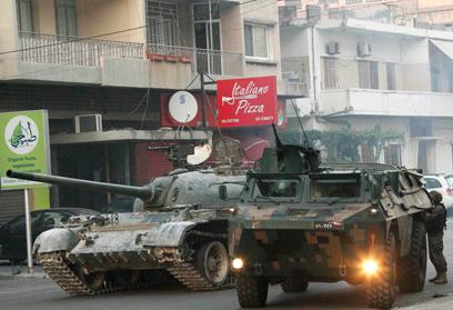 כוחות צבא לבנון בצידון (צילום: רויטרס)