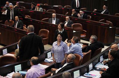 """מבוכה לקואליציה בהצבעה על """"חוק הדגל"""" (צילום:  גיל יוחנן) (צילום:  גיל יוחנן)"""