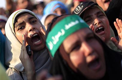 הפגנת תמיכה במורסי (צילום: AP) (צילום: AP)