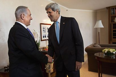 Netanyahu and Kerry in Jerusalem last summer (Photo: Reuters/Archive)