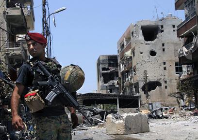 הסכסוך בסוריה משפיע יותר ויותר על לבנון. חייל בצידון (צילום: AP)