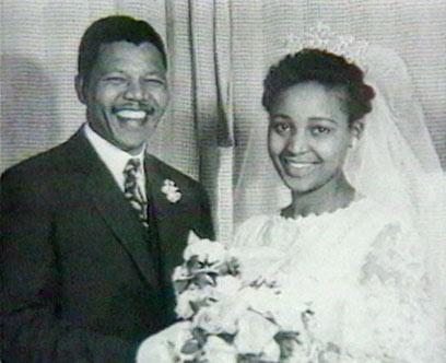 ויני ונלסון מנדלה בחתונתם (צילום: רויטרס) (צילום: רויטרס)