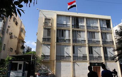Egypt's embassy in Tel Aviv (Photo: Ido Erez)