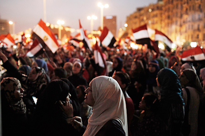 Protests in Tahrir Square in Cairo in 2011