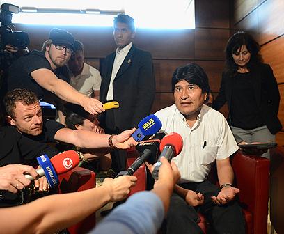 בוליביה היא בין המדינות שהעניקו מקלט לסנואודן. מוראלס (צילום: AFP) (צילום: AFP)