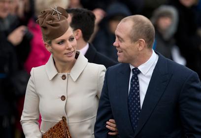 נישאו לפני שנתיים. זארה פיליפס ובעלה, שחקן נבחרת אנגליה ברוגבי מייק טינדייל (צילום: AP)
