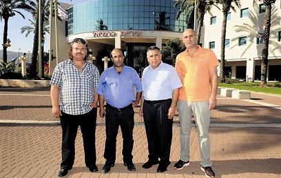 חברי הסיעה: מוחמד טיטי, אברהים שעבאן, סאלח סואעד, חיר סואעד  (צילום נחום סגל)