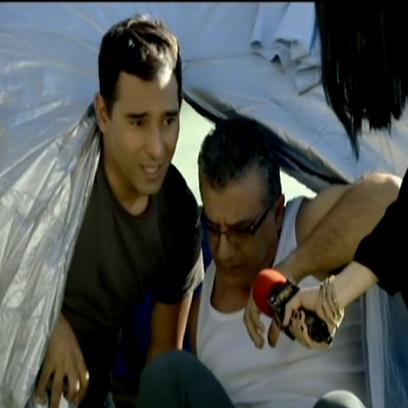 """נורמן עיסא ומריאנו אידלמן ב""""עבודה ערבית"""" (צילום: ערוץ 2) (צילום: ערוץ 2)"""