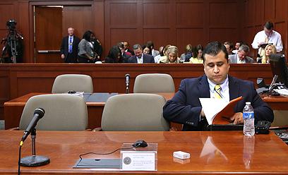 זימרמן באחד הדיונים במשפטו (צילום: MCT) (צילום: MCT)