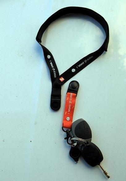 המפתח קשור להגה - כדי שלא תשכח לקרוא את הכיתוב (צילום: יוסי וייס) (צילום: יוסי וייס)