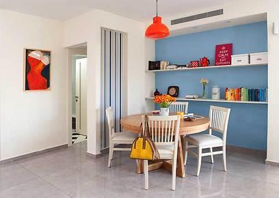 שולחן עגול ומשפחתי עם אפשרות להרחבה בפינת האוכל (צילום: גלית דויטש-דביר) (צילום: גלית דויטש-דביר)