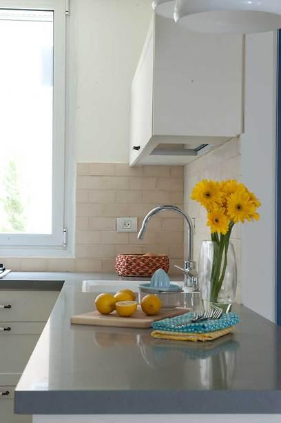עיצוב נקי ופשוט במטבח מהווה רקע לחיי היומיום הצבעוניים (צילום: גלית דויטש-דביר) (צילום: גלית דויטש-דביר)