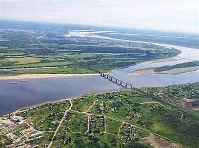 מבט מהאוויר על גשר נהר הפיצ'ורה שבגין וחבריו האסירים בנו (צילום: זיו ריינשטיין) (צילום: זיו ריינשטיין)