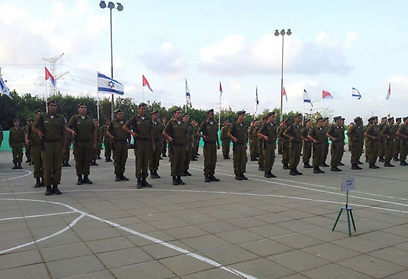 """בוחרים לאיזו יחידה יתגייסו. טקס הסיום בפנימייה הצבאית (צילום: דובר צה""""ל) (צילום: דובר צה"""